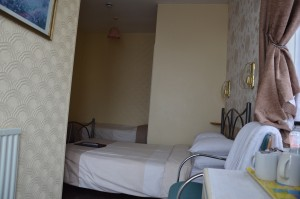 Double and Single bed in Room 4